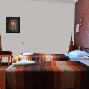 Twin room in Tiziri Surf Maroc accommodation in Tamraght