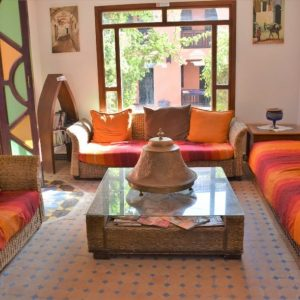 Chilling area in Tiziri Surf Maroc accommodation in Morocco, Agadir